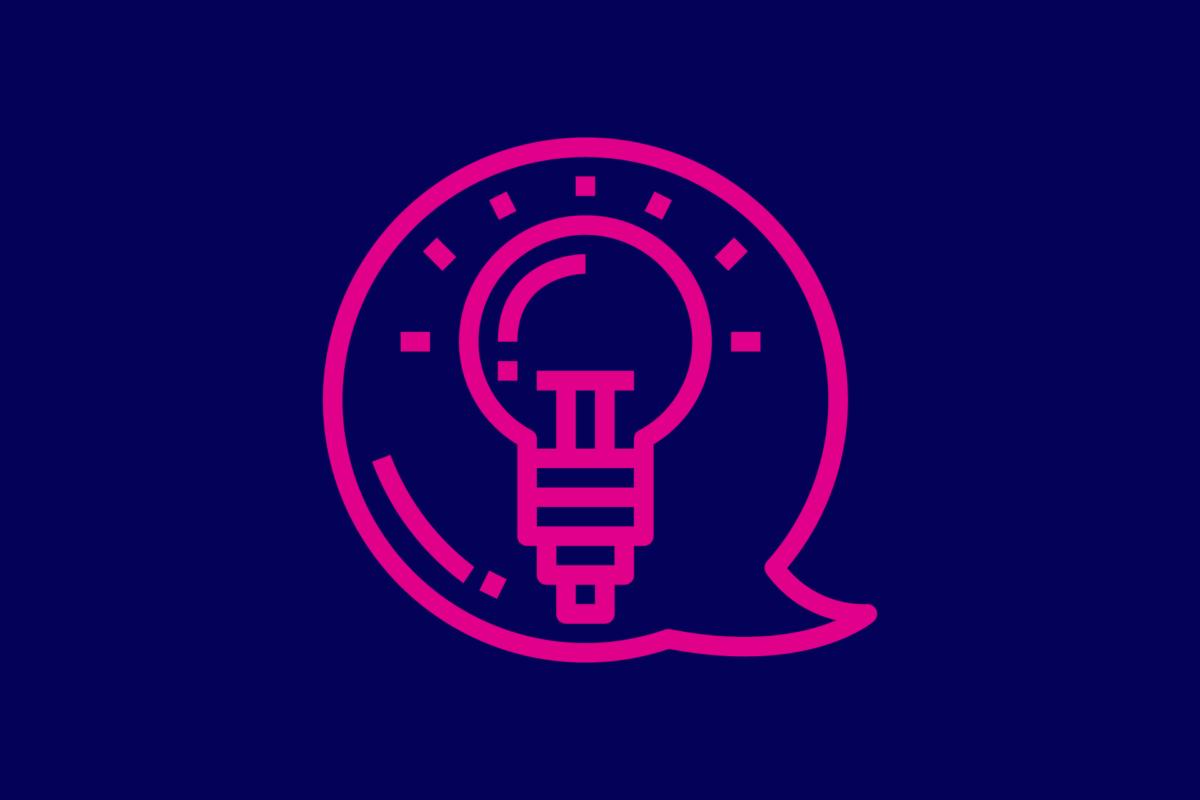 Symbol: Glühbirne.